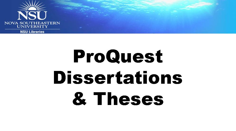 Proquest dissertation database